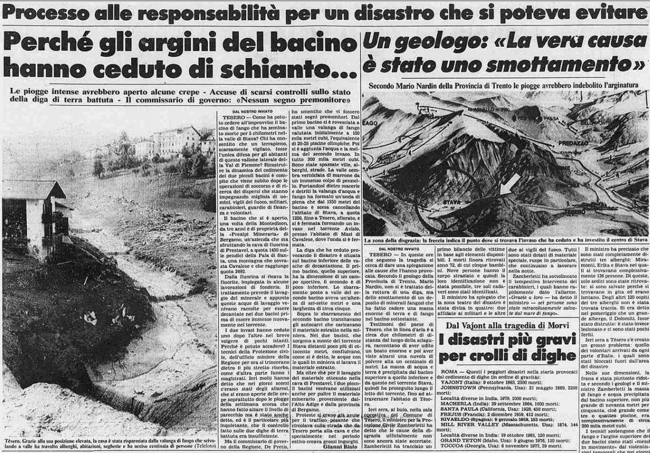 8 3 19 luglio, 32°anniversario della catastrofe di Stava