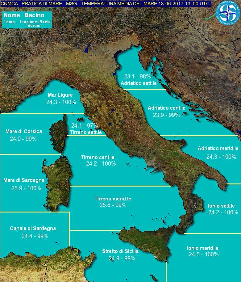 Mare Mediterraneo Cartina.Focus Temperatura Del Mar Mediterraneo Meteoservice E Tempo Di Cambiare