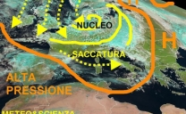 ANCORA FREDDO E NEVE IN EUROPA CENTRALE, FRESCO NEL MEDITERRANEO, POSSIBILE PRIMO MAGGIO MOLTO INSTABILE CON TEMPORALI