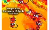 Le aree più calde domenica 17 Aprile: eccole