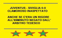 Una lenta Juventus fermata dall'arbitro e dal Siviglia ieri sera