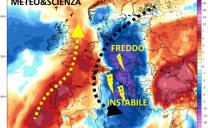 Dalle spire agitate del Vortice Polare spunta un goccia fredda Continentale