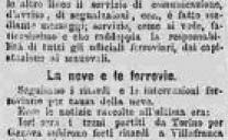 Torino dopo la Nevicata del 14 Gennaio 1883