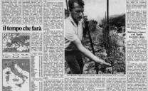 11 agosto 1976 – il terribile flagello della grandine ha di nuovo infierito sulle langhe