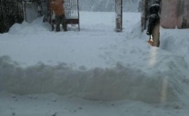 Oltre mezzo metro di neve in yakutia in Siberia