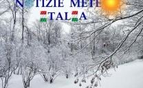Tra Lunedì e Martedì, nevicate a tratti anche abbondanti al Nord Est, specialmente Emilia Romagna