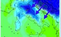 Freddo intenso per domenica 18 Marzo secondo il modello europeo ECMWF su una parte dell'Italia.