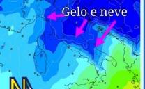 Prossima settimana fredda e occasionalmente nevosa sull'Italia.