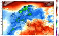 Febbraio 2018 ,freddo in Europa e caldo nella costa orientale degli USA.