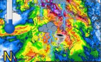 Fresco e forti piogge sull'Italia durante la prossima settimana.