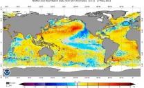 Primavera fredda in Europa a causa di una anomalia negativa della temperatura della superficie del nord atlantico?