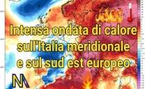 Una fortissima ondata di caldo con massime di oltre 40 gradi si sta dirigendo verso l'Italia meridionale e il sud-est europeo