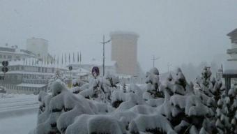 La bellissima nevicata  a Sestriere di Domenica 1° Maggio