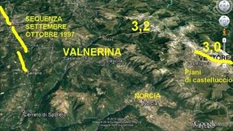 Aggiornamento sequenza sismica ed evoulzione sismotettonica in atto