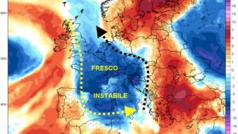 Instabilità al Centro Sud – dal 15 arriva l'Autunno su Nord e Tirreniche