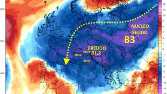 Afflusso freddo già iniziato: da giovedì temporali, più freddo e neve sulle cime alpine e parte degli Appennini. Tre impulsi artici in sequenza