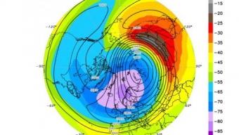 A Dicembre Vortice stratosferico molto disturbato