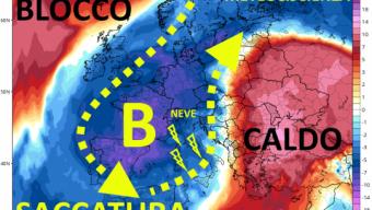 A partire da giorno 5 maltempo nel Mediterraneo, prima piogge, poi neve sui rilievi; a metà mese incognita stratosferica