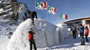 Lombardia, primarie Pd: seggio in un 'igloo' a 3.000 metri sul ghiacciaio Presena