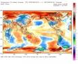La temperatura scende a livello globale