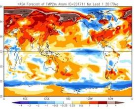 La NASA emette le proiezioni stagionali per l'imminente Inverno 2017: le novità