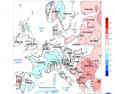 Noaa: Anomalie termico/precipitative tra il 12 e il 18 Novembre in Europa e in Italia