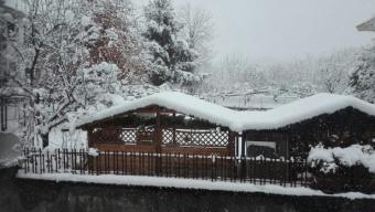 La neve a Lanzo Torinese