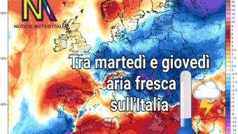 Africa fino al giorno 9 poi atlantico sull'Italia